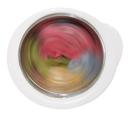 clothing laundering in washing machine  Stock Photo - 12789208