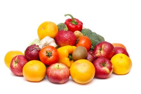 fresh vegetables isolated on white background Stock Photo - 13060171