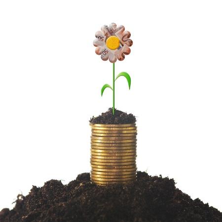Concept de croissance mon�taire financier