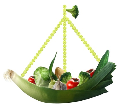 fresh vegetables on the ship and white background Stock Photo - 13179465