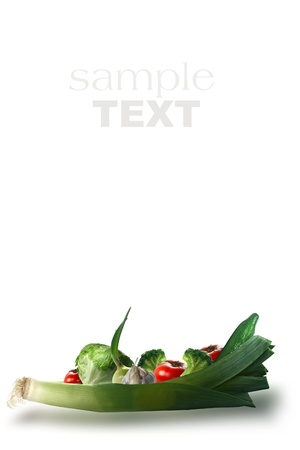 fresh vegetables on the white background Stock Photo - 13179427