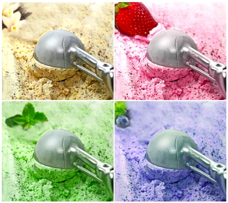 collage Ice Cream scoop  photo