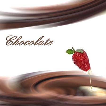 Cr�me au chocolat � la fraise