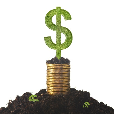 Money growth  Financial concept