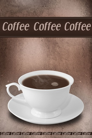 Cup of hot coffee   Restaurant concept   Stock Photo