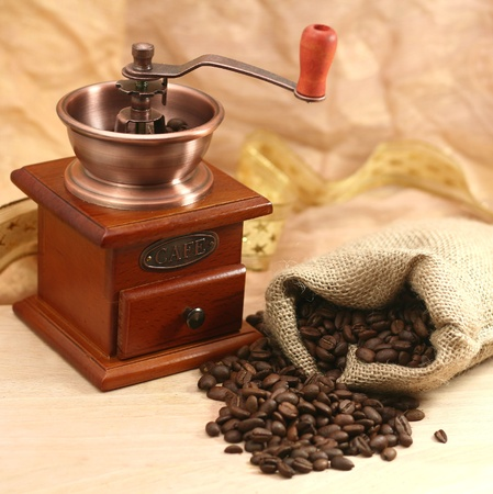 coffee and grinder photo