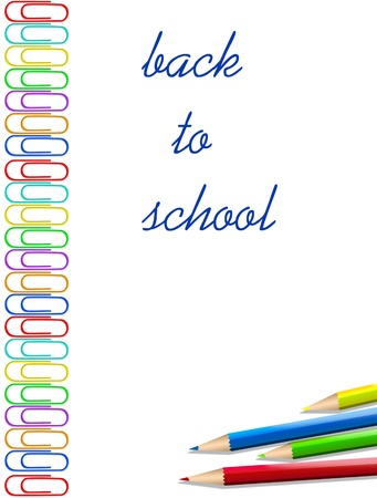 primary colors: school tools , back to school background