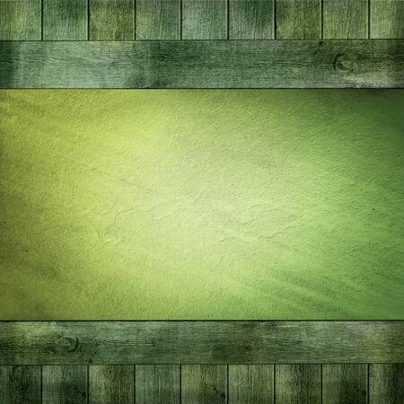green wood background Stock Photo - 13254233
