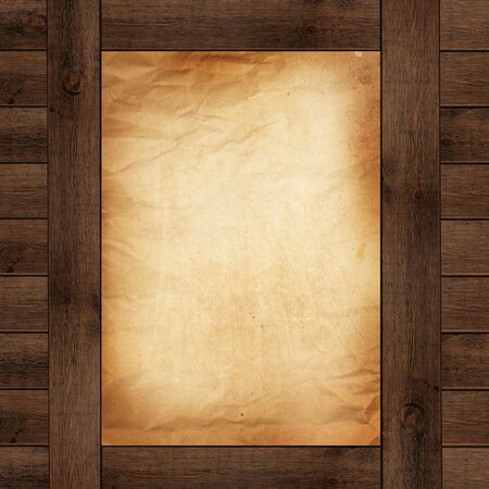 wood background and old paper Stock Photo - 13254229
