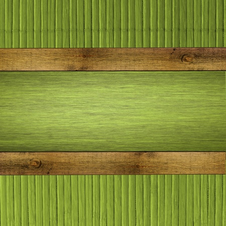 green wooden background Stock Photo - 13254231