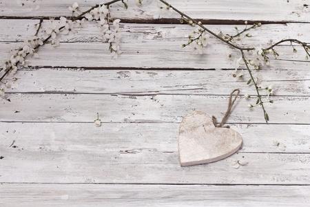 Printemps fleur fleurs de cerisier sur fond de bois Banque d'images