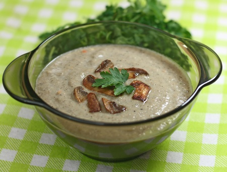 mushroom soup with cream Stock Photo - 13446621