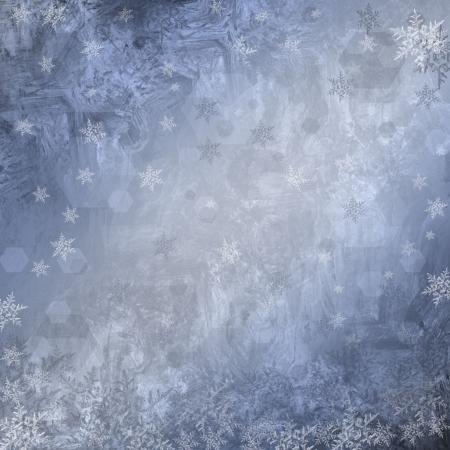 blauwe Kerst achtergrond