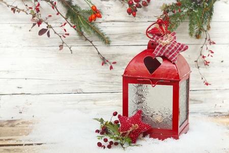 br�ler lanterne et drcoration No�l Banque d'images