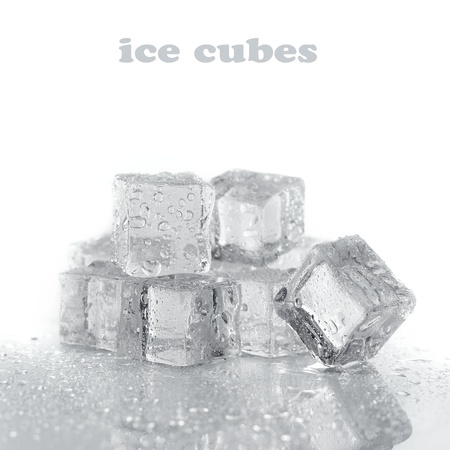 solid blue background: ice cubes