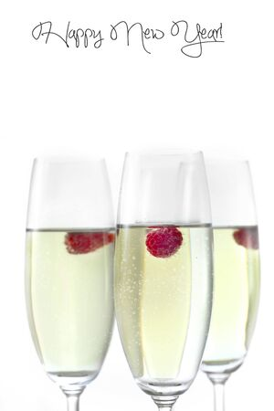 champagne in glasses Stock Photo - 16294377