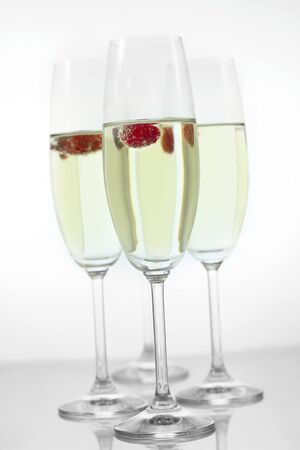 champagne in glasses photo