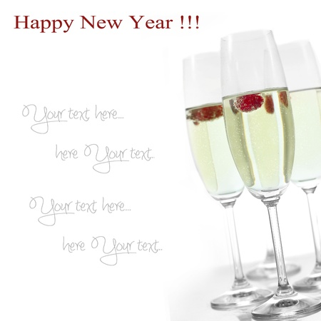 champagne in glasses Stock Photo - 16294350