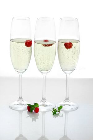 champagne in glasses Stock Photo - 16294368