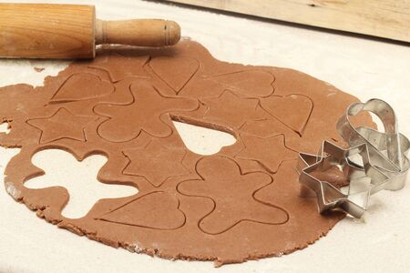 Making gingerbread cookies for Christmas