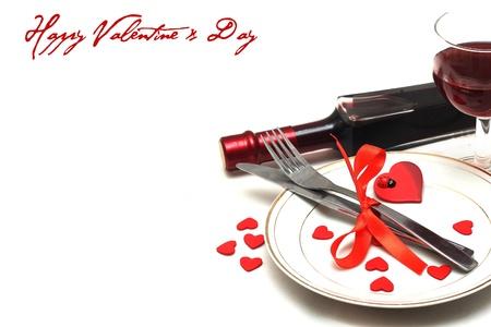 arrangement de table valentine Banque d'images
