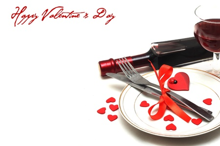 valentine table setting  photo