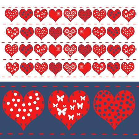 Valentine s background with hearts  photo