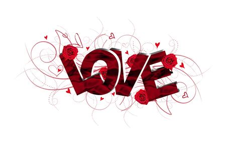 3D Love text composition Stock Photo - 16816570