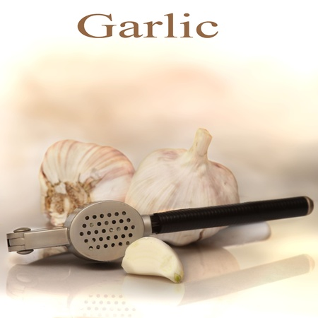 Composition with fresh garlic Stock Photo - 17056619