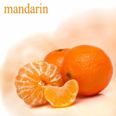 Orange mandarin or tangerine fruit photo