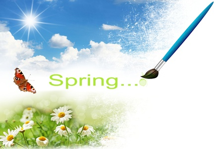 paint spring background Stock Photo - 17306825