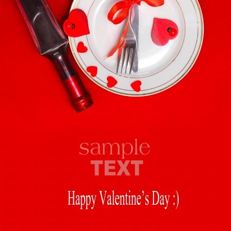 setting valentine s table photo