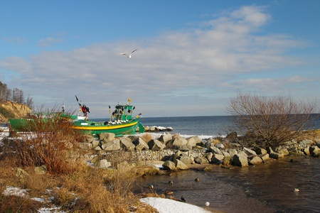 Fishing boats in Gdynia-Orlowo Poland   photo