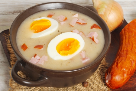 zur, zurek - component of a traditional Polish soup Sourdough Stock Photo