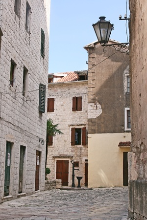 old street in  Kotor, Montenegro photo