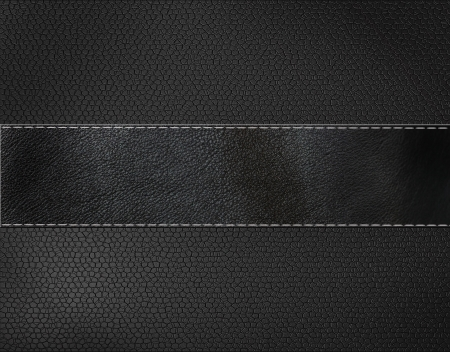 tailor seat: black leather background  Stock Photo