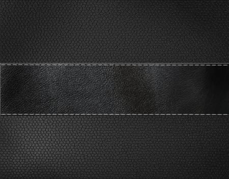 black leather background  Stockfoto