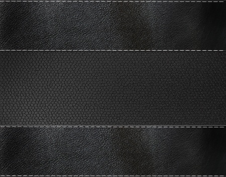 black leather texture: black leather background  Stock Photo