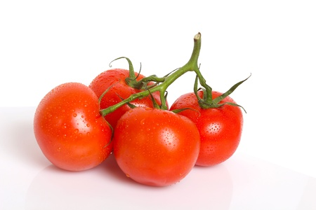 Close-up photo of tomatoes with water drops Stock Photo - 20283287