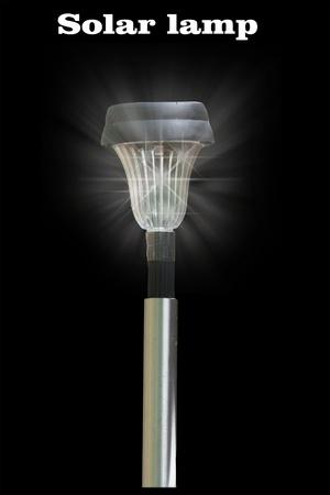 a solar-powered gard lamp Stock Photo - 20700054