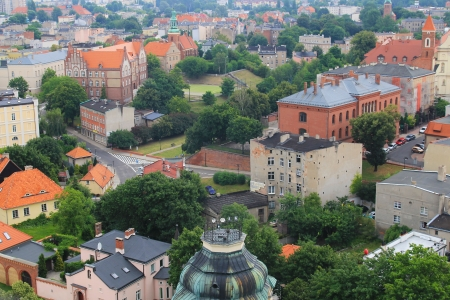 wielkopolskie: panorama of Gniezno  view from the tower Archicathedral