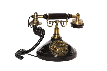 Old style phone isolated in white Stock Photo - 21420384