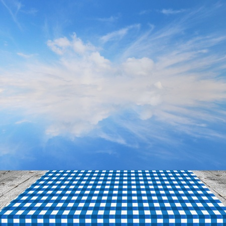 picnic table: Empty table for Your photomontage or product display.