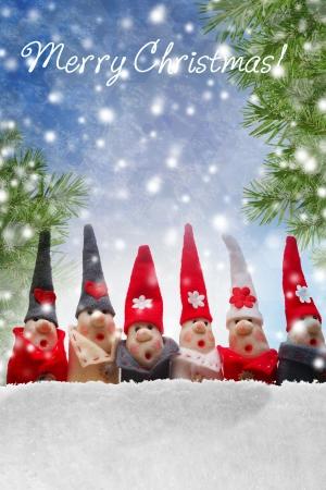Elfes de No�l d�corations produit fabriqu� � partir de sel et la farine Banque d'images