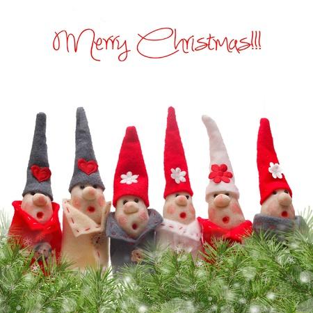 duendes de navidad: Decoraciones de Navidad Elfos. Producto elaborado a partir de la sal y la harina