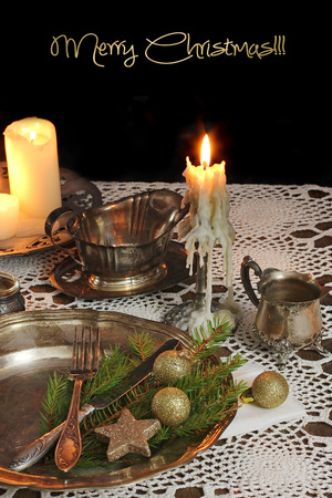 Christmas table setting  photo