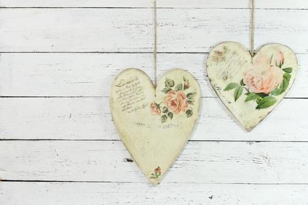 two hearts made by decoupage photo