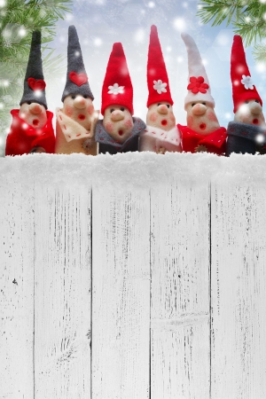 elf: Christmas Elves decorations. Product made from salt and flour Stock Photo