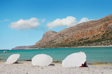 Fantastic view of Balos Lagoon and Gramvousa island on Crete, Greece photo