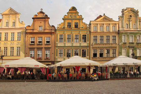 POZNAN, POLAND -JULY 28: The central square on July 28, 2013 in Poznan, Poland. Currently, Old Market is the center of tourism Poznan